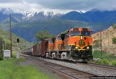 https://flic.kr/p/Y3D9NR | 'Goatboat' in the Wasatch | A BNSF Railway manifest freight on the former D&RGW at Rio, Utah • June 7, 2008