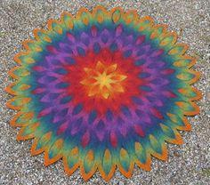 Felt Mandala Carpet by Jana Muchalski