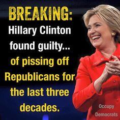 Breaking Hillary Clinton found guilty...