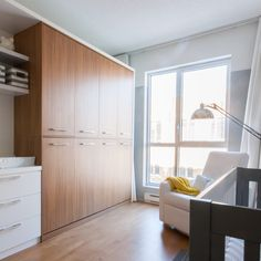 Dorion Project Reveal - Murphy bed - Valérie De L'Étoile Interior Design Divider, Garage Doors, Outdoor Decor, Room, Furniture, Design, Home Decor, Home Decoration, Bedroom