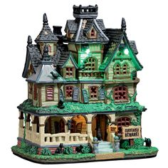 Lemax Haunted Mansion.  SKU# 75173. Released in 2017 as a Lighted Building for the Lemax Spooky Town Village Collection.