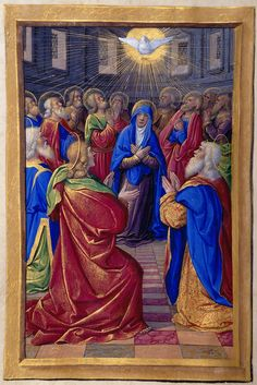 Hours of the Holy Spirit: Pentecost   Hours of Henry VIII, in Latin   Illuminated by Jean Poyer   France, Tours   ca. 1500   The Morgan Library & Museum