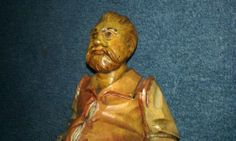 Wood Sculpture,spain,old man,hand carved,numbered,nice,good cond,must see