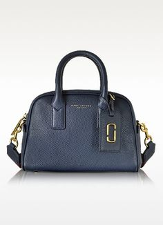 New Arrivals: Marc Jacobs - Gotham City Midnight Blue Leather Small Satchel Bag
