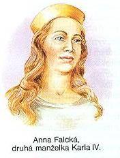 Anne Falcké 17. ledna 1350 se Anně v Praze narodil vytoužený syn, křtěný Václav, který ale ve věku necelých dvou let, 28. prosince 1351, zemřel. Třináct měsíců nato, 2. února 1353, zemřela v Praze i Anna Falcká ve věku třiadvaceti let. Spadla z koně a zlomila si vaz.