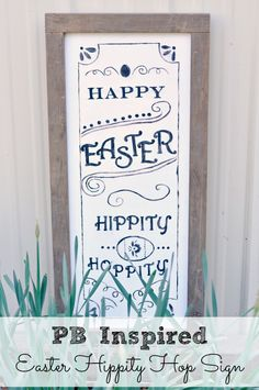 PB Inspired Easter Hippity Hop Sign {Dolen Diaries for See Vanessa Craft}