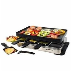 Raclette - a famous dish from Switzerland which makes use of a special equipment that allows one to melt cheese below and grill different foods on top.:) SIMPLY DIVINE!!!!