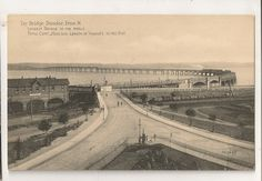 Postcard of the 'new', very expensive, and longest bridge.