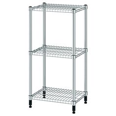 IKEA - OMAR, Shelf unit, Easy to assemble – no tools required.You can build several vertically if you need more storage space.Adjustable shelves make it simple for Metal Shelves, Wire Shelving, Adjustable Shelving, Shelving Units, Shelf Units, Wall Shelf Unit, Wall Shelves, Kitchen Shelves, Kitchen Racks