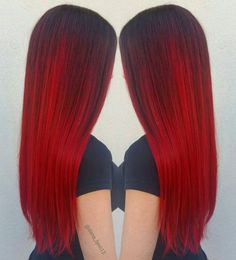 Vibrant Red Hair Color with Redken Gels