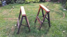 For Sale: Sawhorses $20 OBO - I am selling two small saw horses! Good condition! Only used for painting some items.