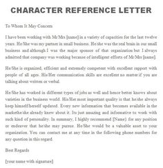 character letter of recommendation Awesome Personal / Character Reference Letter Templates [FREE] Personal Reference Letter Template, Sample Character Reference Letter, Writing A Reference Letter, Character Letters, Letter Writing, Memo Template, Letter Templates Free, Writing Template, Character Letter Of Recommendation