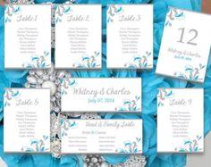 Printable Wedding Seating Chart Template Blissful