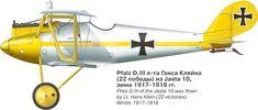 Pfalz D.III Unit: Jasta 10 Serial: unknown Pilot - Lt.Hans Klein (22 victories). Winter 1917-191