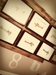 Project Nursery - Aviation Themed Nursery with Gallery Wall on Reclaimed Wood - Project Nursery
