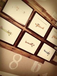 Project Nursery - Aviation Themed Nursery with Gallery Wall on Reclaimed Wood - Project Nursery