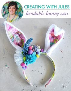 Jules Madden created these fantastical bunny ears and shares a tutorial showing how on Alisa Burke's blog. They're made from felt and fabric and they're bendable, but what makes …