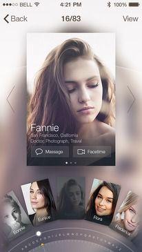 Profile Card by JOMMANS — Designspiration