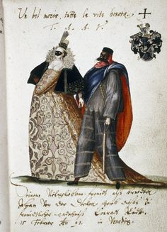 Man and woman in carnival dress. Venice, 1591 | Flickr - Photo Sharing!