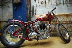 The Carolina Kid 1951 Triumph Thunderbird Drag Bike Built By TFMW