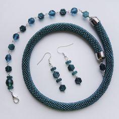 Borys Brytva. Adjustable bead crochet necklace.