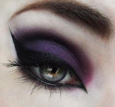 Purple Witch Eye Make-up Look. Makeup Inspo, Makeup Art, Makeup Inspiration, Makeup Tips, Beauty Makeup, Makeup Ideas, Makeup Geek, Makeup Tutorials, Gothic Makeup