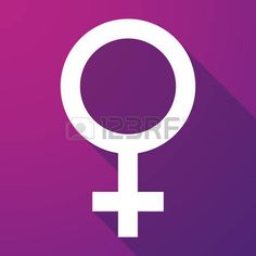 Illustration of a female sign    long shadow icon photo