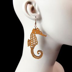Seahorse Earrings  Laser Cut Acrylic C.A.B. Fayre by CABfayre