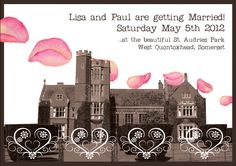 awww - my wedding invites.. Lush!