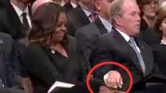 Michelle Obama Reveals What George W. Bush Gave Her At John McCain's Funeral — HuffPost Michelle Obama, George W Bush, Politics Today, Former President, Faith In Humanity, Funeral, History, Lady, Fictional Characters