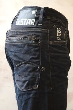 Men's Denim Jeans G-Star Attacc Straight 2967 - I want a girl version of these pls Raw Jeans, Raw Denim, Denim Jeans Men, Jeans Fit, Jeans Pants, Mode Man, Mein Style, Denim Fashion, Swagg