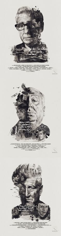 poster set | Director Portraits by Julian Rentzsch & Stellavie