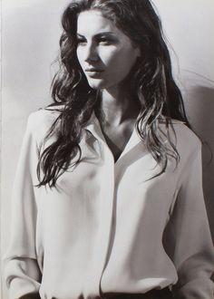 white shirt- Gisele Bundchen for Ralph Lauren S/S 1998