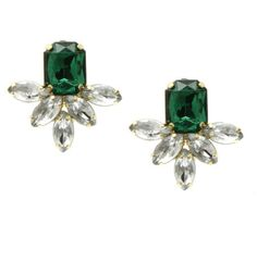 Diana Emerald Stud Earrings