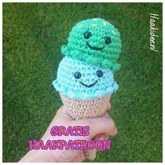 Kijk wat ik gevonden heb op Freubelweb.nl: een gratis haakpatroon van Haakidee om dit leuke ijsje te maken https://www.freubelweb.nl/freubel-zelf/gratis-haakpatroon-ijsje-2/