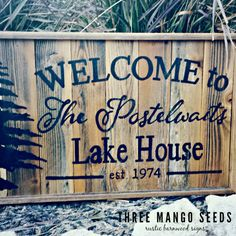 Wood Sign Design Ideas namely original pallet wood sign ideas Personalized Welcome Rustic Wood Sign 17x25 Hand Lettered Fixer Upper Lake House