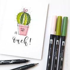 617 vind-ik-leuks, 18 reacties - Carla Kamphuis (@carlakamphuis) op Instagram: 'DOODLE • cactus. Nothing fancy, just having fun with my #tombow pen collection . Tombow ABT 126,…'