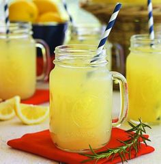 Show your school spirit by whipping up any of these team-inspired tailgating recipes, starting with War Eagle Lemonade from Auburn University! Tailgating Recipes, Tailgate Food, Cheers, Lynchburg Lemonade, Rosemary Lemonade, Good Food, Yummy Food, Homemade Lemonade, Football Food