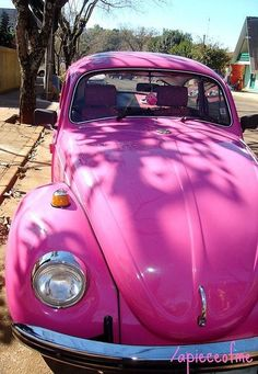 Volkswagen – One Stop Classic Car News & Tips Vw Bus, My Dream Car, Dream Cars, Retro, Beetle Car, Combi Vw, Rosa Rose, Cute Cars, Everything Pink