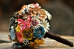 Jewellery Floral Brooch Bouquet  | Read more http://www.ourweddingdate.com.au/blog/artificial-wedding-bouquets/