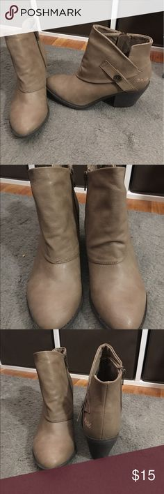 Beige ankle booties NWOT! NWOT beige ankle booties with zippers on the insides Blowfish Shoes Ankle Boots & Booties