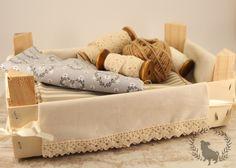 emilias-nature-love: DIY Mandarinenkisten-Kleid ♡ Box-Verkleidung Kistenverkleidung