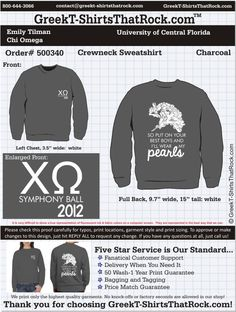 Chi Omega 500340 ...................................................  WORK 1 ON 1 with a member of our design team until your T-Shirt idea is perfect.... and ALWAYS get them on in time (or before you even need them) at the price you want!  ...................................................  Just click this design, it will take you to our website where you can  upload your ideas and get everything started!