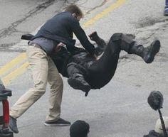 Chris Evans & Sebastian Stan Highlighted In New Captain America: The Winter Soldier Set Pics