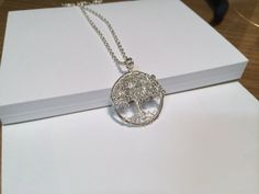 Tree Of Life Silver Weeping Willow Necklace by Just4FunDesign, $24.00