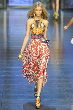 D&G; »  Spring 2012 RTW »  really?      btdt   i things very similiar in the early 1970a