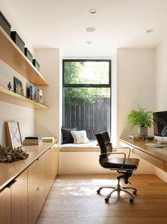 Home Office Design, Home Office Decor, House Design, Office Ideas, Desk Ideas, Home Study Design, Office Designs, Bureau Design, Closets Pequenos