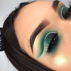 green makeup #forbrowneyes #tutorial #olive #looks #emerald #ideas