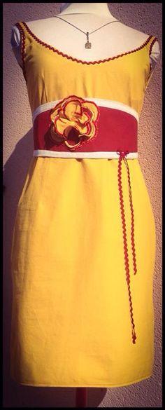 Robe droite, avec son obi, dos échancré. Crea sur commande 170€. Personnalisable à souhait