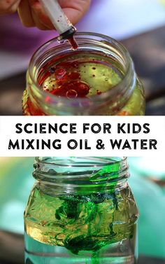Science for Kids-:Oil, Water & Detergent Experiment